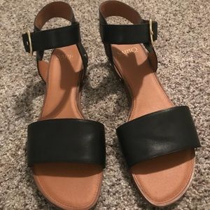 Like NEW Franco Sarto Patterson Low Wedge Sandal